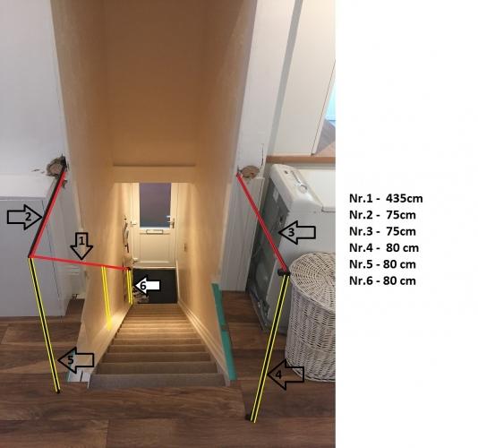 balustrada lemn si inox pentru scari interior