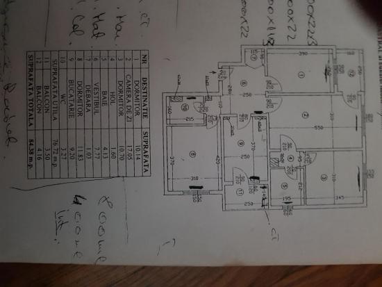 Renovare partiala apartament 4 camere zona Lujerului