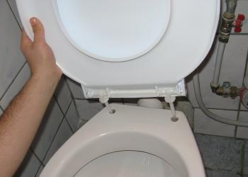 Montarea colacului pe vasul de WC