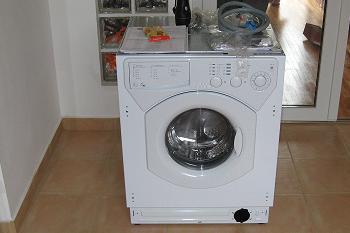 Masina de spalat va fi incastrata in mobila de bucatarie