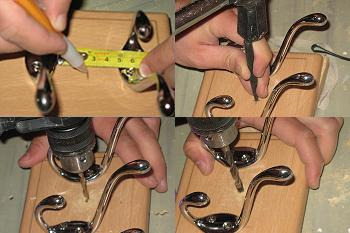 Masurare, marcare si gaurire pentru prindere pe hol