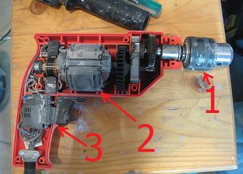 Cum este construita o bormasina electrica cu percutie