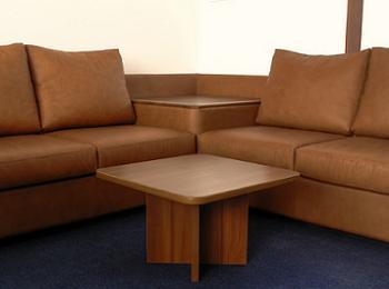 Canapea coltar din piele pentru sufragerie