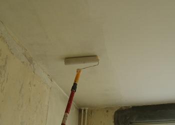 Umezirea vopslii si gletului pe tavan