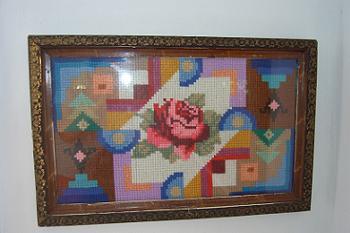Decoratiuni Rustice Goblen cu Trandafir