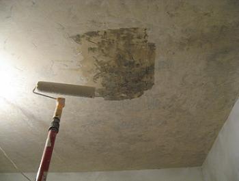 Cum se aplica amorsa pe tavan