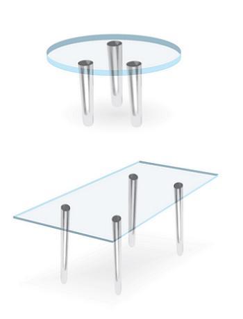 Masa de bucatarie din sticla poate fi rotunda sau dreptunghiulara