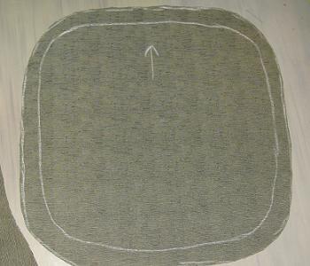 Pregatirea materialui pentru tapitarea scaunului
