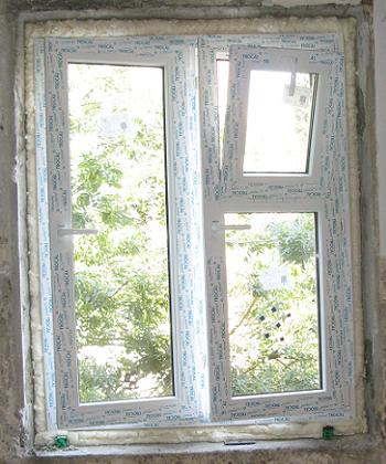 Tamplarie noua cu geam termopan in bucatarie