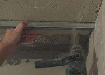 Cum se prinde profilul in perete sau tavan