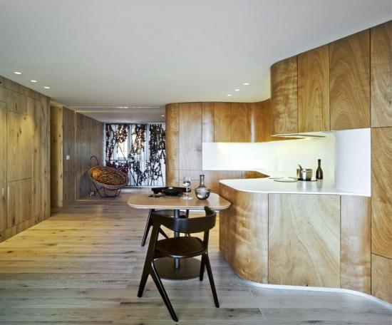 Mobila din lemn cu leduri pentru bucatarii moderne