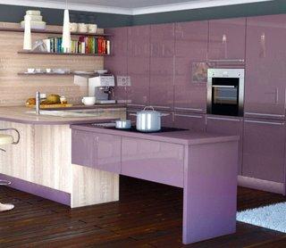 mobila bucatarie culoare lila
