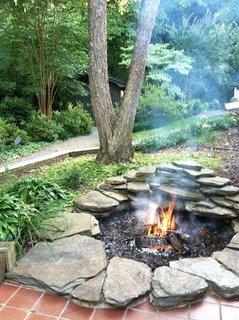 Foc de tabara gradina