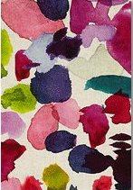 Model modern de perdea cu flori in culori vii