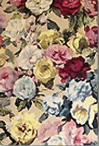 Perdea cu imprimeu floral mare