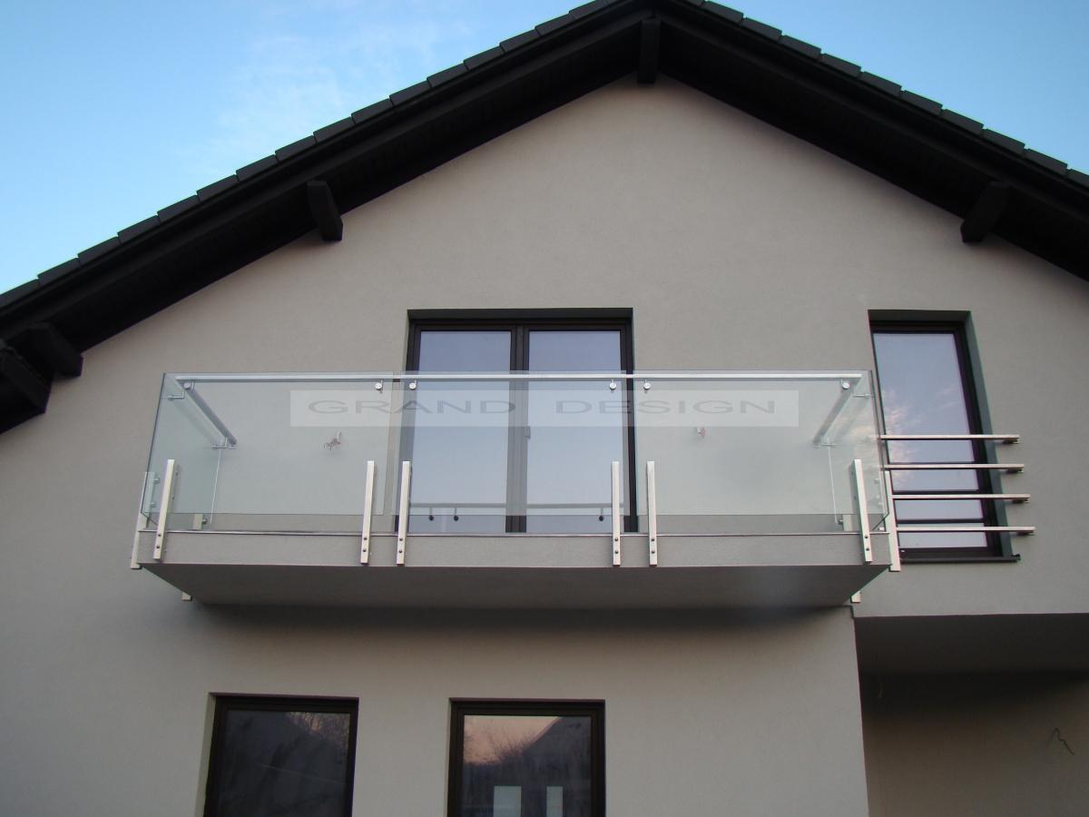 balustrada din inox si sticla pentru balcon casa