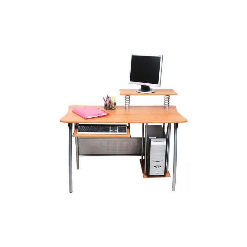 birou calculator din cadru metalic si blat mdf