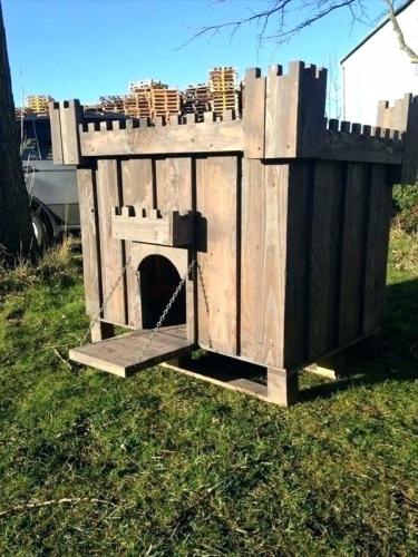 Cusca de caini cu forma de castel