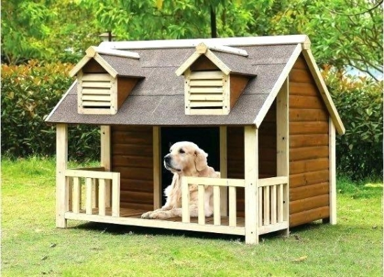 Cusca de caini sub forma de casa