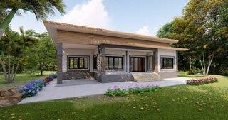 Plan 2 Casa fara etaj cu arhitectura simpla