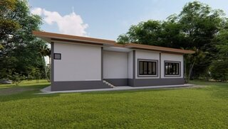 Plan 2 casa fara etaj vedere laterala