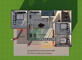 Plan 2 plan camere casa moderna mica