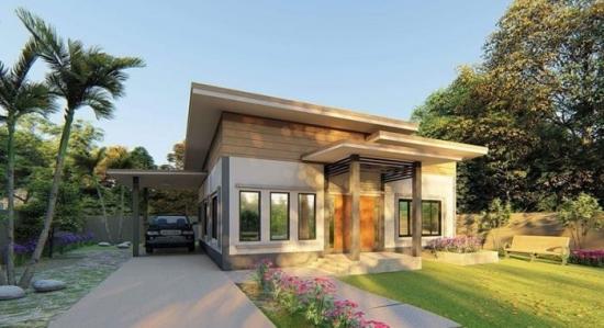 Proiect 3 casa doar cu parter si garaj lateral