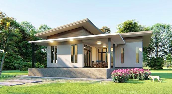 Proiecte case cu parter si acoperis plat