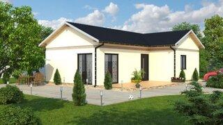 Casa cu parter in forma de L - constructie usoara - proiect 3