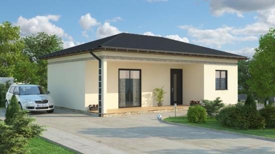 Casa din lemn doar cu parter pentru o familie mica - proiect 2