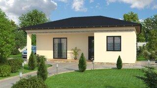 Casa din lemn parter cu 2 dormitoare - proiect 2