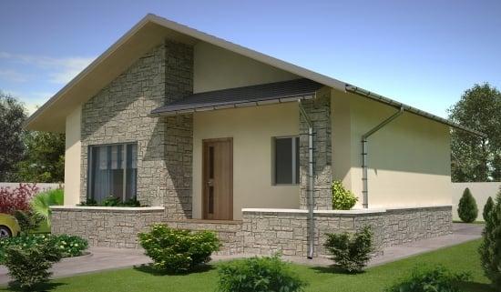 Casa din lemn parter cu pret pana in 20000 euro la rosu