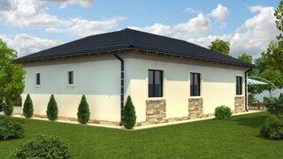 Casa din lemn suprafata construita 87 mp - proiect 3