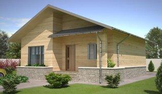 Casa pe structura din lemn suprafata construita 76,52 mp