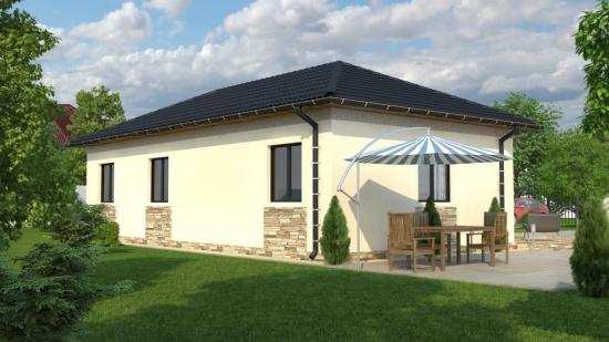 Varianta de casa cu placari ornamentale din piatra - proiect 3