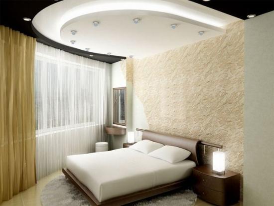 Model de tavan din gips carton pentru dormitor