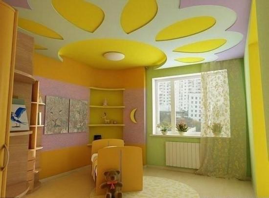 Model de tavan din rigips pentru camera de copii