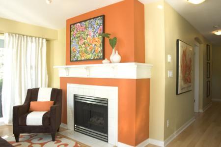 Living in culori indraznete  portocaliu si galben