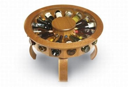 Masa cu suport pentru sticle de vin