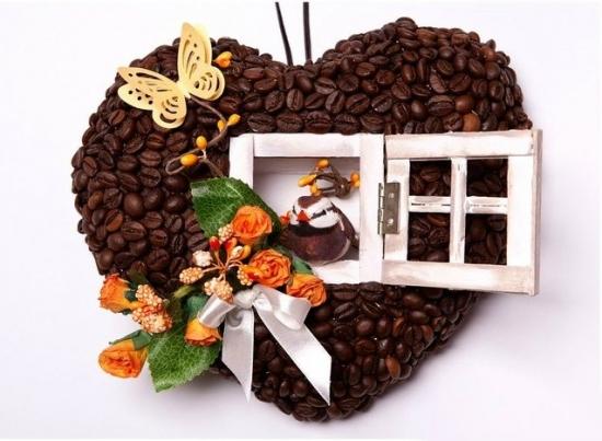 Decoratiune de perete cu cafea ideala pentru cafenea
