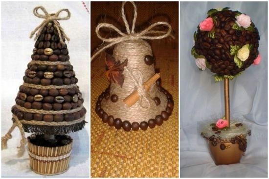 Decoratiuni cu boabe de cafea - idei si exemple in imagini