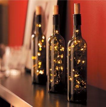 Recicleaza sticlele vechi de vin si creeaza o decoratiune inedita
