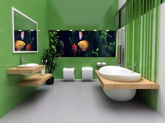 Acvarii in baie