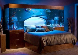 Noptiere pat cu acvariu incorporat