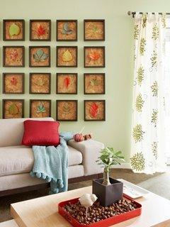 Colectie de tablouri cu frunze uscate o inspiratie de toamna