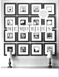 Jurnal cu amintiri pe perete
