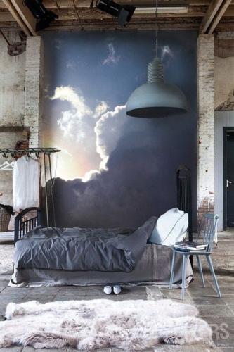 Spatiu loft modernizat cu tapet