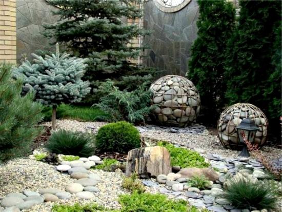 Decoratiuni gradina gabioane cu piatra