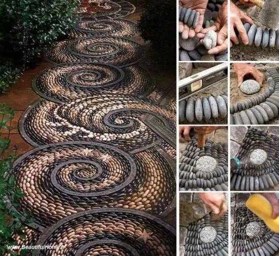 Cum se realizeaza o alee de gradina din mozaic proiect diy