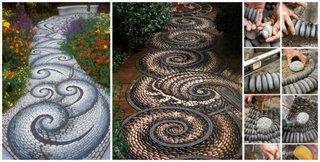 Modele alei din mozaic cu pietre